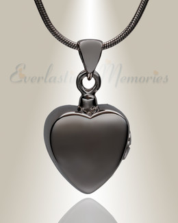Black Simple Heart Cremation Jewelry