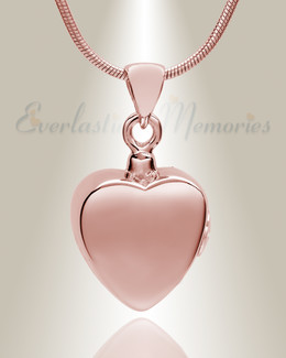 Rose Gold Simple Heart Cremation Jewelry