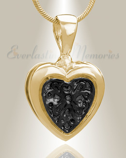 Gold Plated Loved Heart Cremation Jewelry