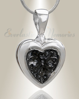 Silver Loved Heart Cremation Jewelry