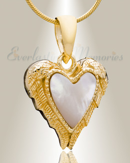 Gold Plated In Love Cremation Jewelry