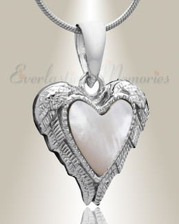 Silver In Love Cremation Jewelry