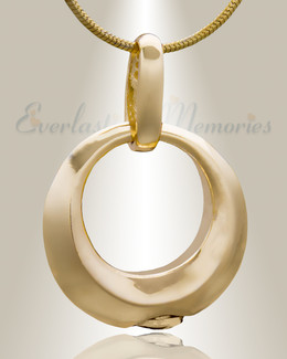 Gold Plated Encircle Cremation Jewelry