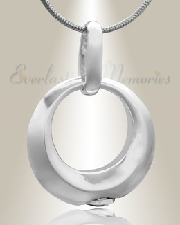 Silver Encircle Cremation Jewelry