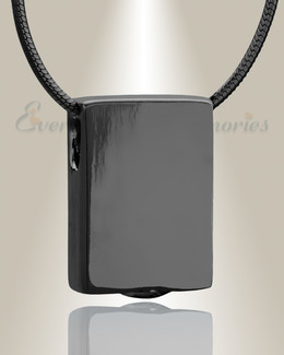 Black Simple Rectangle Cremation Jewelry