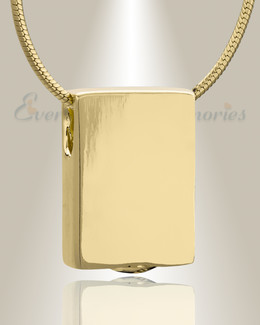 Gold Plated Simple Rectangle Cremation Jewelry