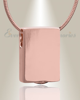 Rose Gold Simple Rectangle Cremation Jewelry