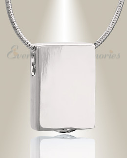 Silver Simple Rectangle Cremation Jewelry