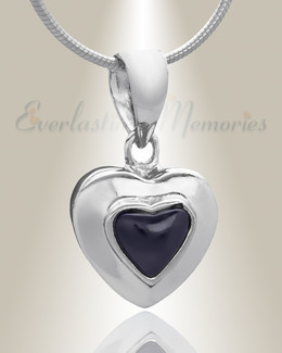 Silver Fallen Heart Cremation Jewelry