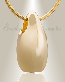 Gold Plated Simple Tear Cremation Jewelry