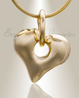 Gold Plated Keeper Heart Cremation Jewelry