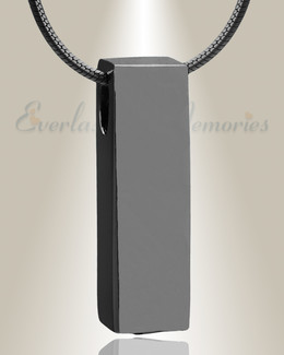 Black Elegance Cylinder Cremation Jewelry