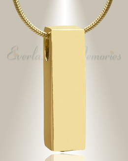 Gold Plated Elegance Cylinder Cremation Jewelry