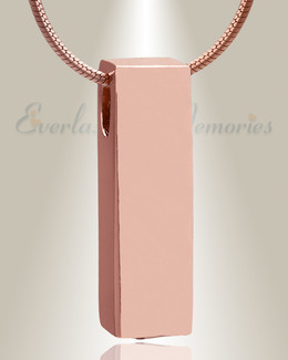 Rose Gold Elegance Cylinder Cremation Jewelry