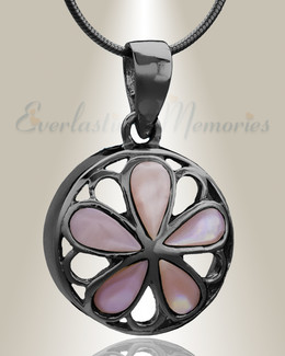 Black Blooms Cremation Jewelry