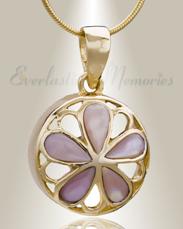 Gold Plated Blooms Cremation Jewelry