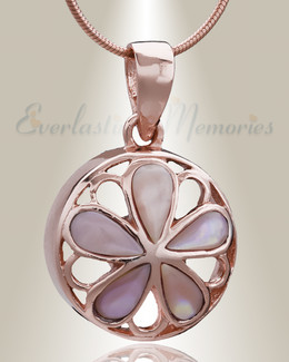 Rose Gold Blooms Cremation Jewelry