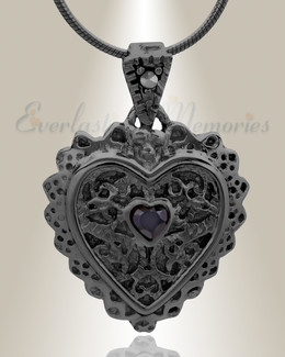 Black Sophisticate Heart Jewelry
