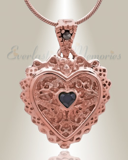 Rose Gold Sophisticate Heart Cremation Jewelry
