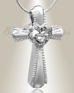 Silver Always Cross Cremation Jewelry