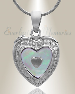 Silver Tri Heart Cremation Jewelry