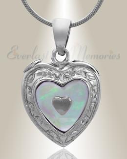 Silver Tri Heart Cremation Jewelry