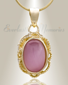 Gold Plated Sunset Cremation Jewelry