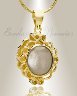 Gold Plated Believe Cremation Jewelry