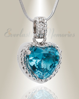 Silver Sea of Hearts Cremation Jewelry