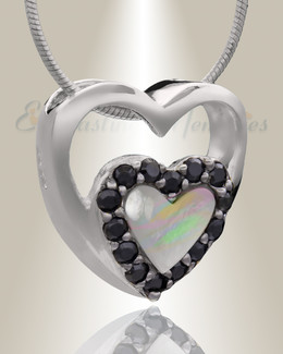 Silver Together Heart Cremation Jewelry