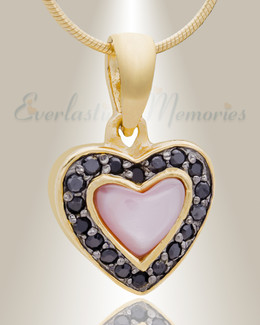 Gold Plated Longing Cremation Jewelry