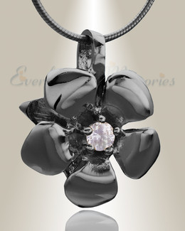 Black Daisy Cremation Jewelry