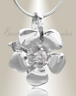 Silver Daisy Cremation Jewelry