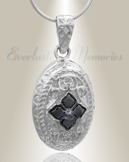 Silver Eternal Round Cremation Jewelry