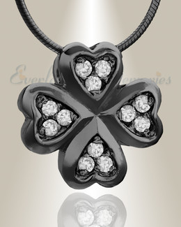 Black Clovers Cremation Jewelry
