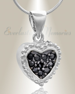 Silver Merry Heart Cremation Jewelry