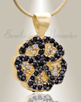 Gold Plated Pansy Cremation Jewelry