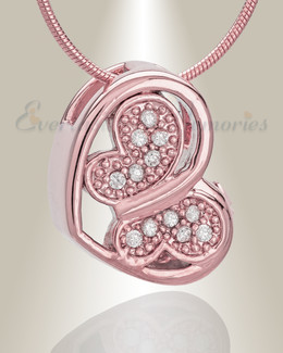 Rose Gold Spring Heart Cremation Jewelry