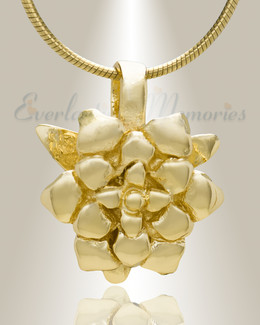 Gold Plated Roses Cremation Jewelry