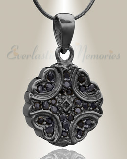 Black Celestial Cremation Jewelry