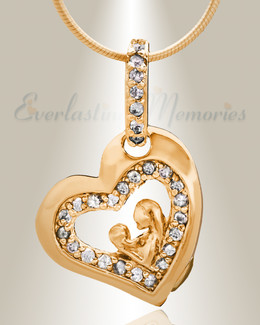 Gold Plated Cherish Cremation Jewelry