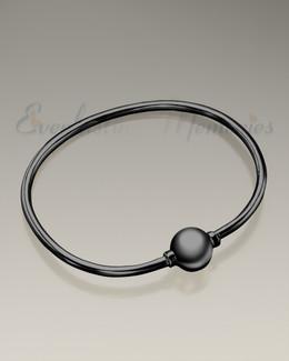 Black Codder Bracelet Cremation Jewelry