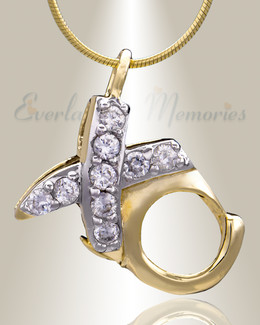 Gold Plated XO Cremation Jewelry
