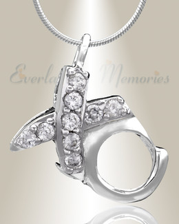 Silver XO Cremation Jewelry