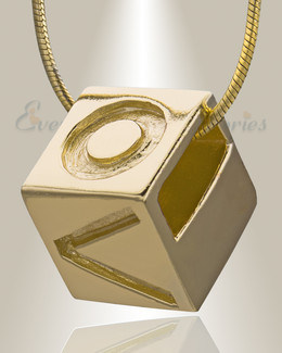 Gold Plated Box of Love Cremation Jewelry