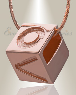 Rose Gold Box of Love Cremation Jewelry
