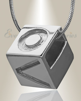 Silver Box of Love Cremation Jewelry