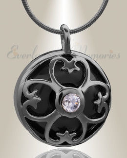 Black Gentle Night Cremation Jewelry