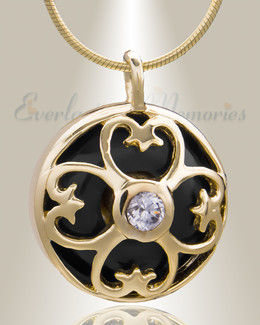 Gold Plated Gentle Night Cremation Jewelry