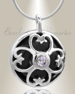 Silver Gentle Night Cremation Jewelry